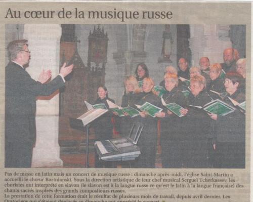 Concert en France, novembre 2013